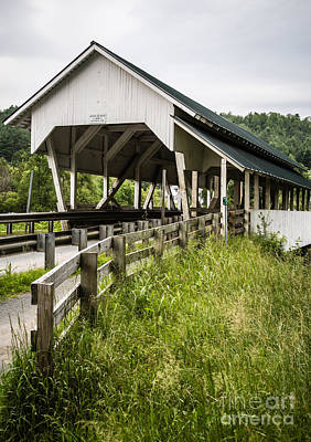 Covered Bridge Photograph - Millers Run Covered Bridge by Edward Fielding