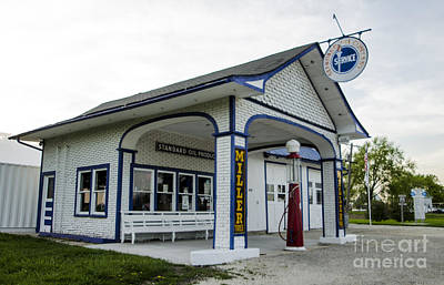Photograph - Miller's Standard Oil Gas Station Dwight Illinois by Deborah Smolinske