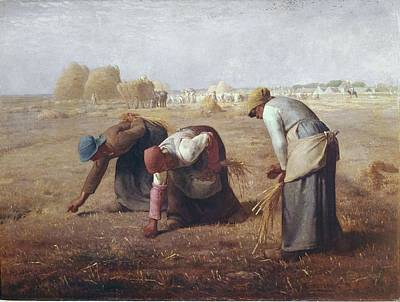Gleaners Photograph - Millet, Jean Fran�ois 1814-1875. The by Everett