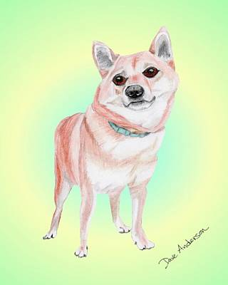 Animal Shelter Drawing - Millie - A Former Shelter Sweetie by Dave Anderson