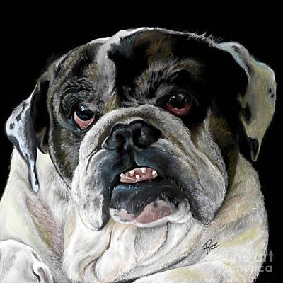 Digital Art - Millie The Bulldog by Maria Schaefers