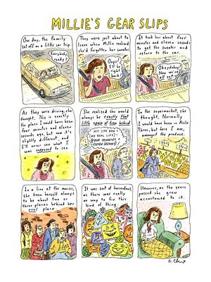 Faces Drawing - Millie's Gear Slips by Roz Chast