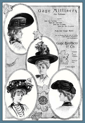 Photograph - Millinery Ad Of 1904 by Phil Cardamone