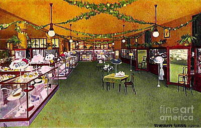 Painting - Millinery Section In Mabley And Carew Department Store In Cincinnati Oh 1910 by Dwight Goss