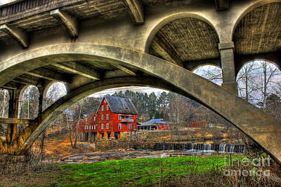 Photograph - Millmore Mill Downunder Hwy 16 Bridge Hancock County by Reid Callaway