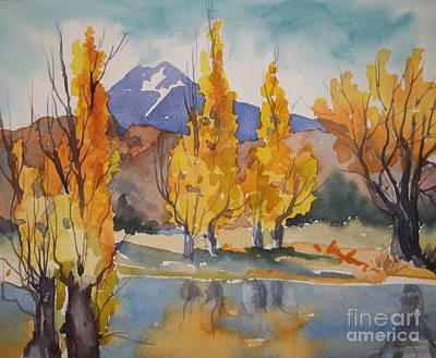 Painting - Millpond Autumn by Pat Crowther