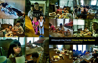 Photograph - Millspaugh-dao Family 2011 by Glenn Bautista