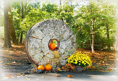 Photograph - Millstone At Phillips Mill by Carolyn Derstine