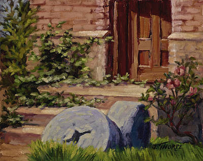 Millstones And Roses Art Print by Jane Thorpe