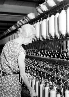 Social Change Photograph - Millville, New Jersey - Textiles. Millville Manufacturing Co by Litz Collection