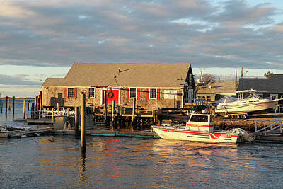 Cape Cod Photograph - Millway Marina, Barnstable Harbor, Cape by Susan Pease