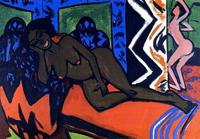 Bremen Painting - Milly Asleep by Ernst Ludwig Kirchner