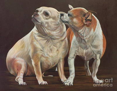 Painting - Milo And Sophie Secrets by Lesley McVicar