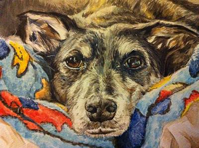 Milo The Lurcher Art Print