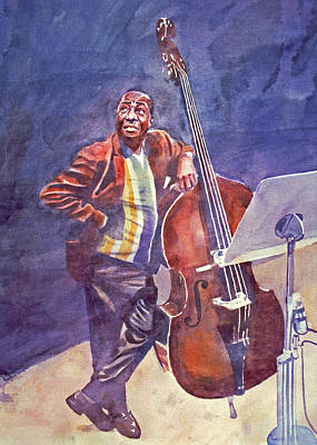 Jazz Royalty Free Images - Milt Hinton Royalty-Free Image by David Lloyd Glover