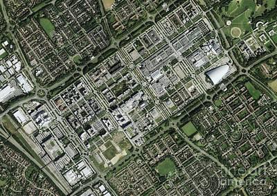 Milton Keynes, Aerial Photograph Art Print by Getmapping Plc