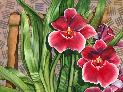 Painting - Miltonia Orchids by Lynda Hoffman-Snodgrass