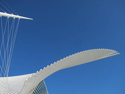 Photograph - Milwaukee Art Museum Closeup 2 by Anita Burgermeister