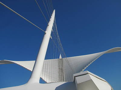 Photograph - Milwaukee Art Museum Closeup 3 by Anita Burgermeister
