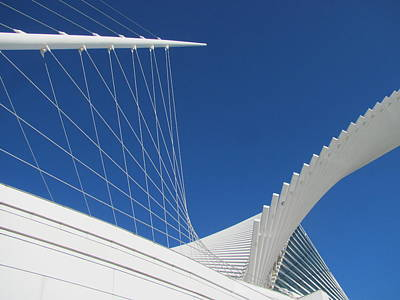 Photograph - Milwaukee Art Museum Closeup 5 by Anita Burgermeister