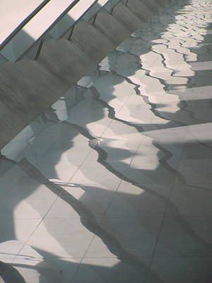 Photograph - Milwaukee Art Museum Floor Reflections 2 by Anita Burgermeister
