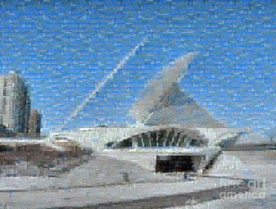 Photograph - Milwaukee Art Museum Mosaic by David Bearden