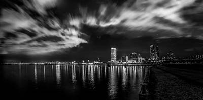 Photograph - Milwaukee At Night by Randy Scherkenbach