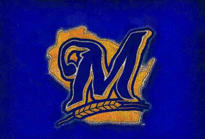 True Mixed Media - Milwaukee Brewers by Dan Sproul