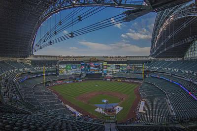 Photograph - Milwaukee Brewers Miller Park Empty by David Haskett