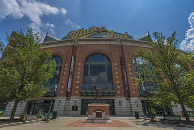 Photograph - Milwaukee Brewers Miller Park Front Gate by David Haskett