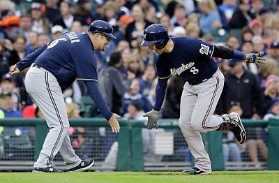 Photograph - Milwaukee Brewers V Detroit Tigers by Duane Burleson