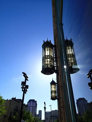 Digital Art - Milwaukee Journal Sentinel Lantern by Geoff Strehlow