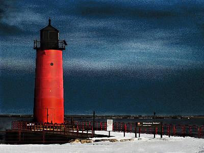 Milwaukee Pierhead Lighthouse Art Print by David Blank