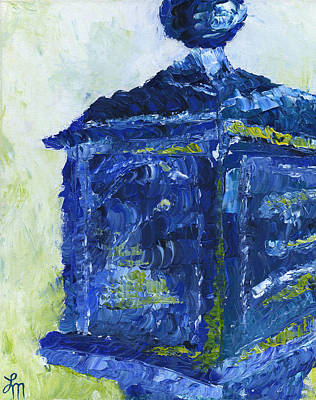 Pallet Knife Painting - Milwaukee Police Call Box by Lindsey Mathewson