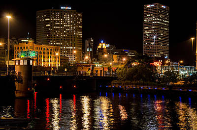 Photograph - Milwaukee River And Downtown Skyline by Susan McMenamin