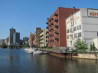 Photograph - Milwaukee River Architechture 1 by Anita Burgermeister