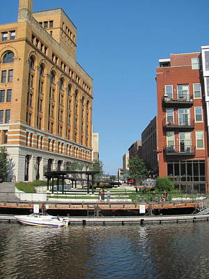 Photograph - Milwaukee River Architecture 5 by Anita Burgermeister