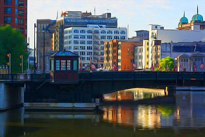 Digital Art - Milwaukee River Bridge by Geoff Strehlow