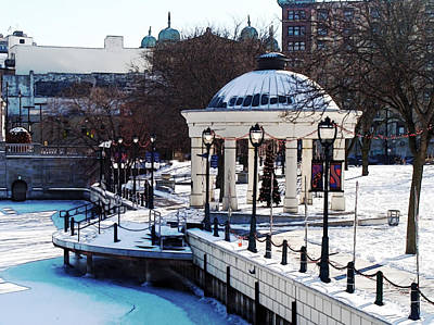 Milwaukee River Walk 3 - Pere Marquette Park - Winter 2013 Art Print by David Blank