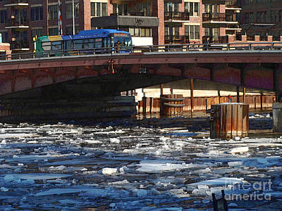 Milwaukee River - Winter 2014 Art Print by David Blank
