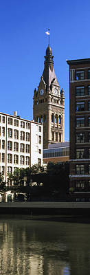 Milwaukee River With City Hall Art Print by Panoramic Images