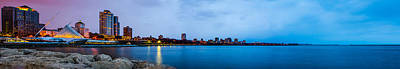 Photograph - Milwaukee Skyline - Version 1 by Steven Santamour