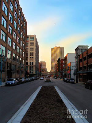 Milwaukee Street - Milwaukee Wi Art Print by David Blank