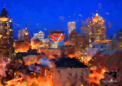 Digital Art - Milwaukee Summer Glow by Geoff Strehlow