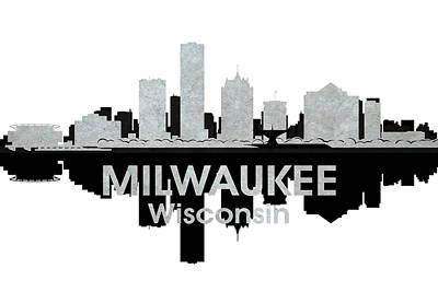 Abstract Skyline Mixed Media - Milwaukee WI 4 by Angelina Tamez