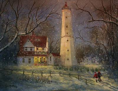 Milwaukee's North Point Lighthouse Art Print by Tom Shropshire