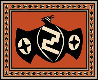 Digital Art - Mimbres Tribal Bat Spirit by Vagabond Folk Art - Virginia Vivier