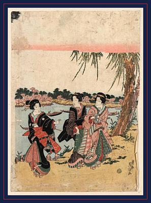 Mimeguri No Hanami Art Print by Eisen, Keisai (ikeda Yoshinobu) (1790-1848), Japanese