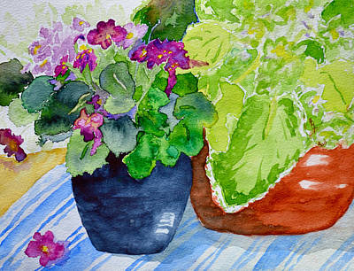 Mimi's Violets Art Print by Beverley Harper Tinsley