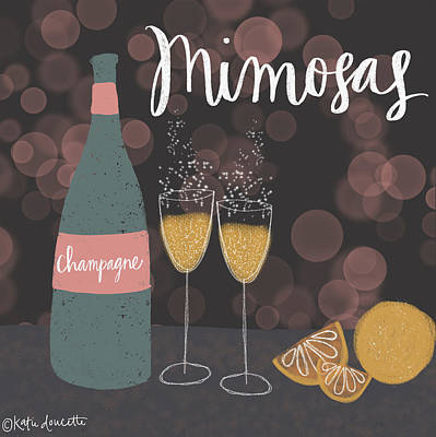 Brunch Painting - Mimosas by Katie Doucette